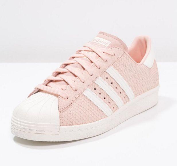 basket adidas femme rose et blanche