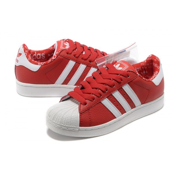 Rouge Superstar Femme Adidas Baskets Adidas Femme Superstar Baskets WQxorCBde