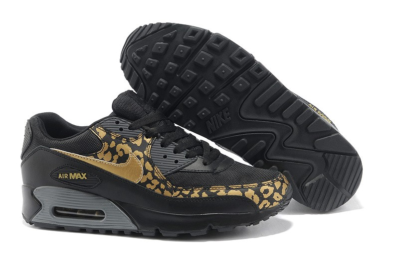 competitive price 330c9 1bcef nike air max 90 femme noir leopard golden