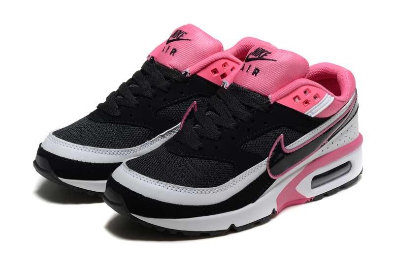 nike air max bw femme chaussures noir rose 2003