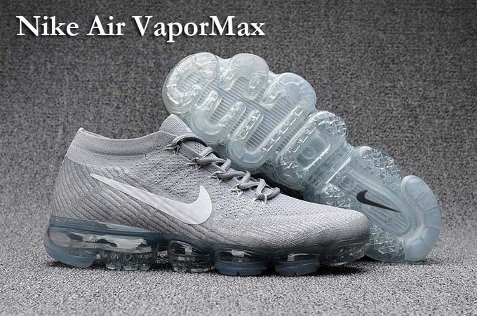 san francisco 04a6e 4c76c nike air max 2018 vapormax, Remise Nike Air Vapormax Gris Blanc Femmes  Flyknit Chaussures De